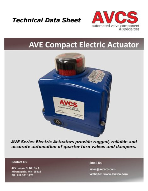 AVCS AVE COMPACT ELECTRIC ACTUATOR